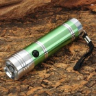 Small Sun ZY-715 3W LED 50lm White Flashlight w/ Strap - Green + Silver (3 x AAA)