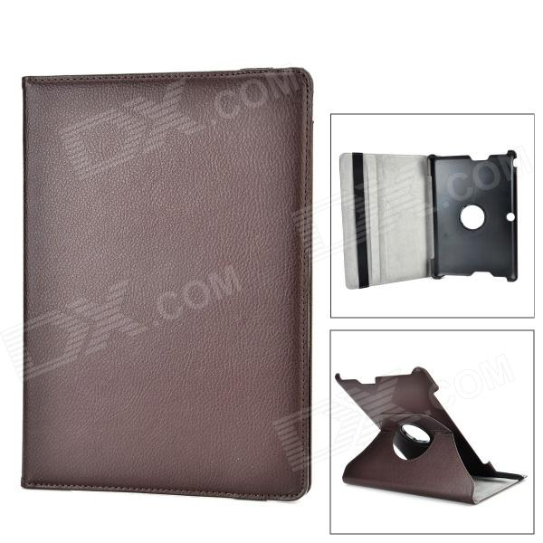 ENKAY ENK-7300 360 Degree Rotation Protective PU Leather Case for 10.1 Asus TF300 - Brown
