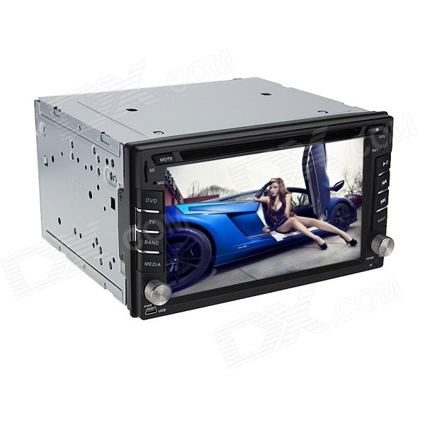 Joyous J-2612MX 6.2 Touch Screen Car DVD Player w/ GPS, Digital TV, Bluetooth, FM/AM Radio - Black ultra thin 7 touch screen lcd wince 6 0 gps navigator w fm internal 4gb america map light blue