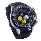 Super Speed V0179 Stylish Silicone Band Men's Analog Quartz Wrist Watch - Black + White (1 x LR626)