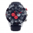 Super speed V6 V0179 Stylish Silicone Band Quartz Analog Wrist Watch for Men - Black (1 x LR626)