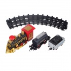 Classic Electric Train Educational Toy - Black + Red + Golden (4 x AA)