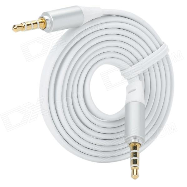 3.5mm Male to 3.5mm Male Audio / Car AUX / Earphone Cable - White (115cm)