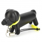 Universal Cute Hound Style Capacitance Stylus Pen w/ Anti-dust Plug for Iphone 5 + More - Black