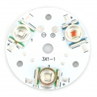 CREE XRE 9W 32mm LED Light Plate - White + Silver