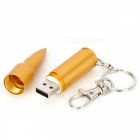 Forma de bala USB 2.0 Unidad Flash - Dorado (4GB)
