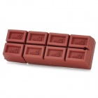 Chocolate Style Rubber + Aluminum Alloy USB 2.0 Flash Drive - Coffee (16GB)
