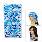 Ryder Multifunction Fashion Outdoor Sports Seamless Head Scarf - Blue