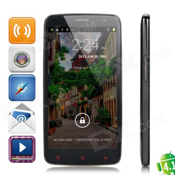 "iNew M1 Quad-Core Android 4.2 WCDMA Bar Phone w / 5.0 ""IPS, Wi-Fi og GPS - Svart"