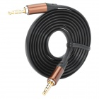3.5mm Male to 3.5mm Male Audio / Car AUX / Earphone Cable - Black (115cm)