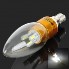 ZDM E14 3W 180lm 7000K 30-SMD 3014 LED White Light Candle Lamp - Golden (AC 85~265V)