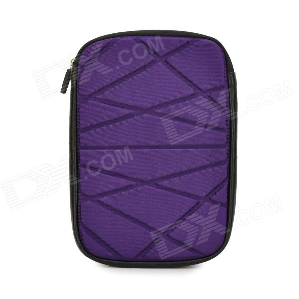 Irregular Geometric Figure Pattern 8 Protective Neoprene TPU Bag Pouch for Ipad MINI - Purple soft neoprene protective pouch case for ipad 9 7 tablets black