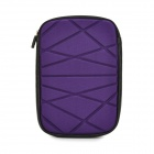 "Irregular Geometric Figure Pattern 8"" Protective Neoprene TPU Bag Pouch for Ipad MINI - Purple"