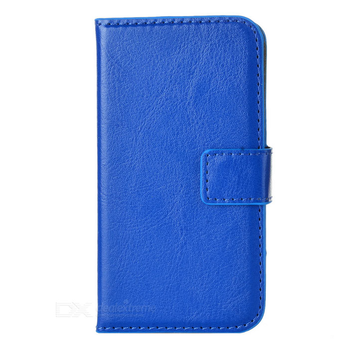 Protective PU Leather Flip-Open Case for Iphone 4 / 4S - Royal Blue protective pu leather flip open case for iphone 4 4s black