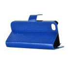 Protective PU Leather Flip-Open Case for Iphone 4 / 4S - Royal Blue
