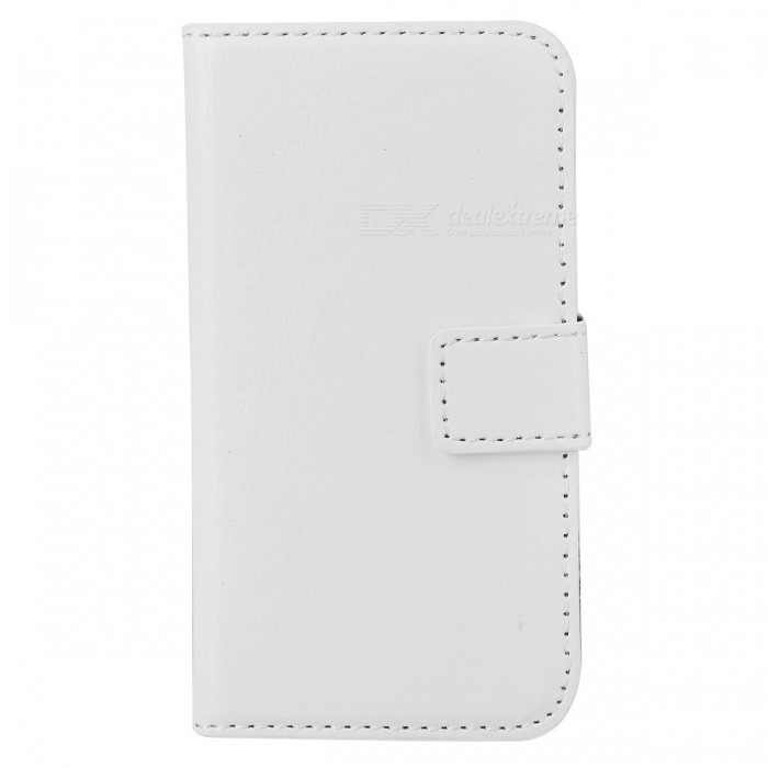 Protective PU Leather Flip-Open Case for Iphone 4 / 4S - WhiteLeather Cases<br>ModelsiPhoneQuantity1MaterialPUForm  ColorWhiteCompatible ModelsIPHONE 4Other FeaturesProtectsPacking List1 x Case<br>