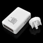 5-Port USB + AU Plug Power Charger Adapter for Iphone 5 / Ipad MINI + More - White