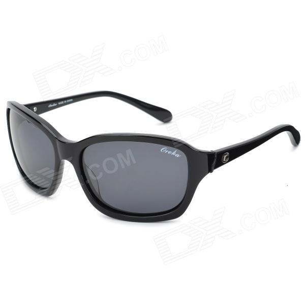 Oreka WG008C1 UV400 Protection Cellulose Acetate Frame Polarized Sunglasses - Black oreka children s cool cellulose acetate frame blue revo lens uv400 sunglasses brown blue