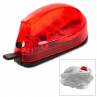 PROWELL SY-89 Kunststoff 3-LED Red Light 3-Mode Fahrradhelm Warning Lamp - Rot + Schwarz (1 x CR2032)