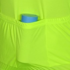 NUCKILY Bike Riding Cycling Short Sleeves Jersey for Men - Fluorescent Green + Black (Size L)