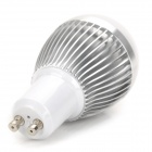 GU10 3W 270lm 6500K 3-LED White Light Bulb Regulável - Prata + Branco (220V)