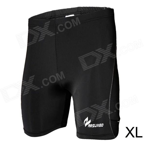 ARSUXEO AR502 Close-fitting Elastic Middle Pants for Men - Black (Size XL)