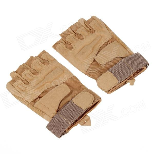 Stylish Outdoor Half-Finger Gloves - Mud Color (Size-XL / Pair)