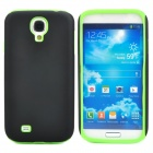 Protective Frosted PC + Silicone Back Case for Samsung Galaxy S4 i9500 - Black + Green