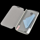 Pudini Protective PU Leather Case w/ Screen Protector for Lenovo A830 - White