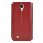 Protective PU Leather Case w/ Card Holder for Samsung Galaxy S4 i9500 - Brown