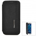 KALAIDENG Protective PU Leather Case for Samsung Galaxy S4 i9500 - Black + White