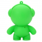 Headphone-Man Style Mini Portable Rechargeable 2-Channel Speaker - Green