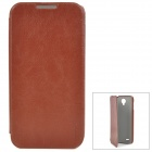 Pudini Protective PU Leather Case w/ Screen Protector for Lenovo A830 - Brown