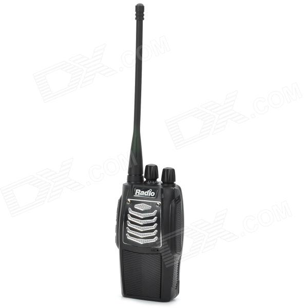 Radio R600 Ultra-Small 400~470MHz Wireless Walkie Talkie - Black + Silver