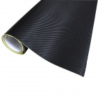 Merdia CFM001DX12 Decoration 3D PVC Carbon Fiber Film Car Wrap Sticker - Black (127 x 50cm)