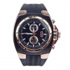 Super Speed V0048 Fashionable Quartz Analog Wrist Watch for Men - Black + Golden (1 x LR626)