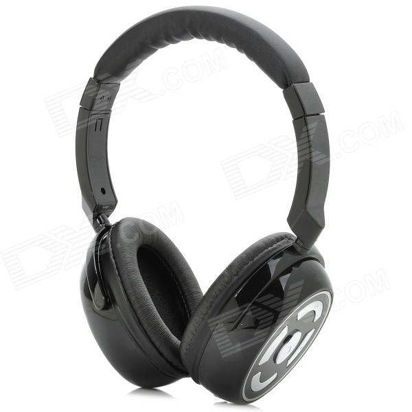 Blue Tiger M8 Multi-Function Bluetooth v4.0 Stereo Headphones Headset / Microphone - Black + Silver down daisy street