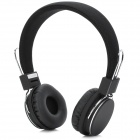 Blue Tiger M28 Folding Bluetooth v2.1 + EDR Headphones Headset w/ TF / Microphone - Black + Silver