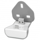 N066-1 Portable Charging Docking Station w/ Micro USB for Samsung + More - Grey + White (UK Plug)