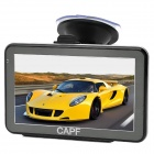 "CAPF DH760 5.0"" TFT Touch Screen Win CE 6.0 Car GPS Navigator w/ FM Transmitter / TF - Black (4GB)"