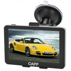 "CAPF DH750B 5.0"" TFT Touch Screen Win CE 6.0 Car GPS Navigator w/ FM transmitter / TF - Black"