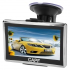 "CAPF DH650 4.3"" TFT Touch Screen Win CE 6.0 Car GPS Navigator w/ FM Transmitter / TF - Black (4GB)"