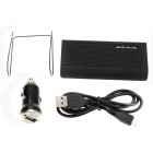 Landi BT-18 Car Bluetooth V3.0 Handsfree + Car Charger Kit w/ Music Playing - Black