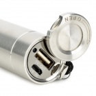 POPLITE Z1 160lm 3-Mode White + 6-LED Red Flashlight Power Bank w/ Cree XR-E R2 - Silver (1 x 18650)
