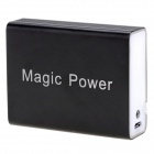 Portable 5200mAh Power Battery Bank Charger w / 4-Adapter for iPhone / Samsung + More - Black