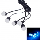 SAXO SK-4431B 0.5W 35lm 490nm 5-LED Blue Light Automobile Decoration Atmosphere Lamp - (DC 12V)