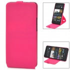 Stylish 360 Degree Rotating Protective ABS Case w/ Holder for HTC M7 - Rosy