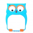Cartoon Owl Style Protective Silicone Back Case for Ipad MINI - Blue + White