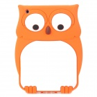 Cartoon Owl Style Protective Silicone Back Case for Ipad MINI - Orange + White
