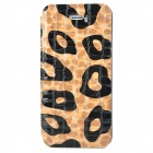 Alligator Pattern Protective PU Leather + Plastic Case for Iphone 5 - Brown + Black